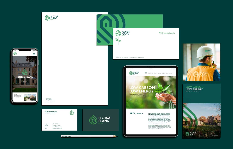 stationery design, branding, eco logo,